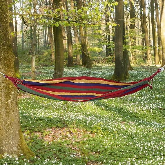 Amazon.com : eDealMax hamaca, al aire Libre del ocio del Verano, que va de excursión, colorido, Lona, colgantes, NETO reticular hamaca cama Para dormir ...