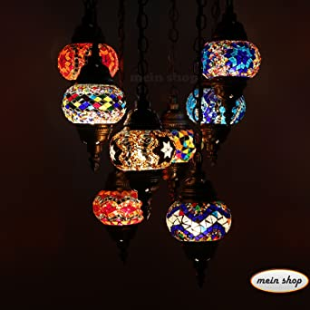 Mosaik Lampe Deckenlampe Orientalische Lampe Turkei Mosaik