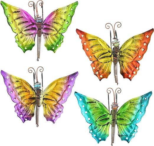 GRAND VERRE /& métal papillon Windchime SUSPENDU DÉCORATION JARDIN mobile