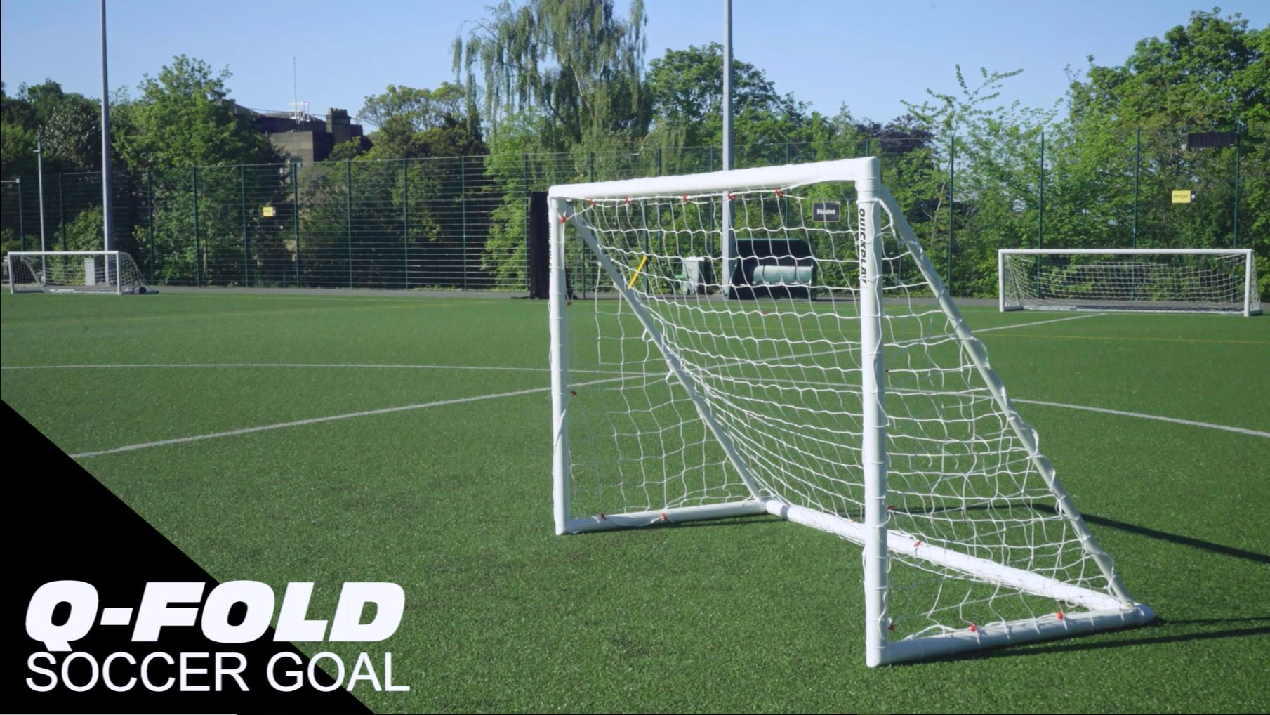 f4229a37b QuickPlay Q-Fold | The 30 Second Folding Soccer Goal for Backyard [Single  Goal] The Best Weatherproof Soccer Net for Kids and Adults – 2YR Warranty