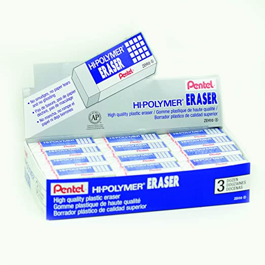Extra Large Erasers multi 1//2//3//5 Pentel ZEH-10 Hi-Polymer Eraser Rubber