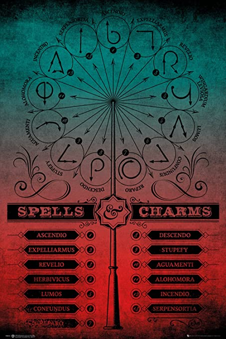 Amazon.com: Póster de Harry Potter Pack Hechizos y Charms 61 ...