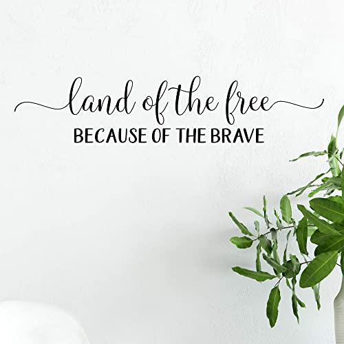 Amazon Com Land Of The Free Because Of The Brave Vinyl Wall Decal Sticker Removable Multi Color Available Handmade