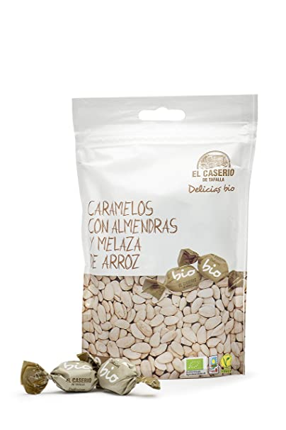 El Caserio de Tafalla Caramelos Almendras y Melaza Arroz BIO 65gr - Pack de 15 unidades