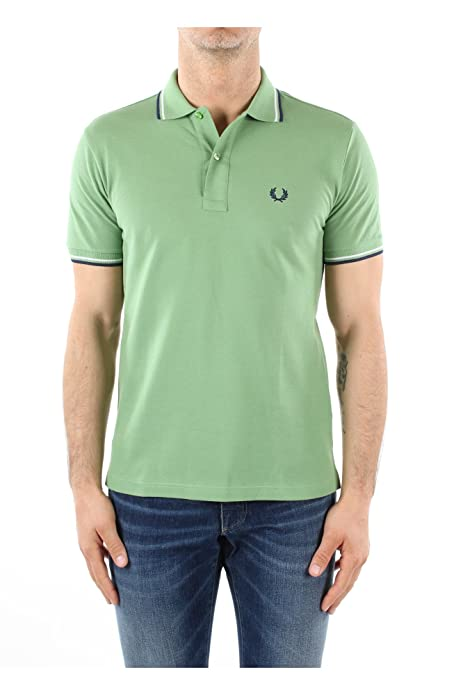 Polo Fred Perry Slim Fit M3600 A64 Verde.: Amazon.es: Zapatos y ...