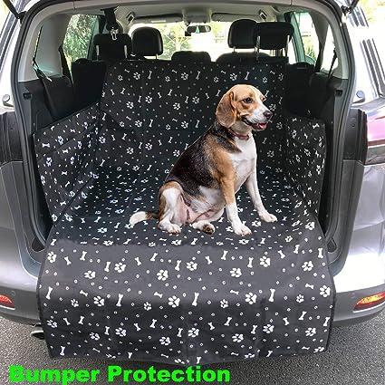 Black//Hammock iHavePet 2-in-1 Car Boot Cover /& Car Rear Back Seat Cover Protector Hammock