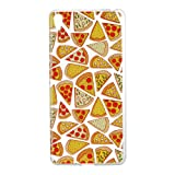 Sony E5 Case, Xperia E5 Soft Case, Sony Xperia E5 Clear Back Cover, Cozy Hut Ultra Light Slim Shockproof Silicone TPU Gel Case [Ultra-Thin] [Lightweight] [Anti-Scratch] [Drop Protection] Transparent Protective Back Cover For Sony Xperia E5 5.0 Inch - Pizza