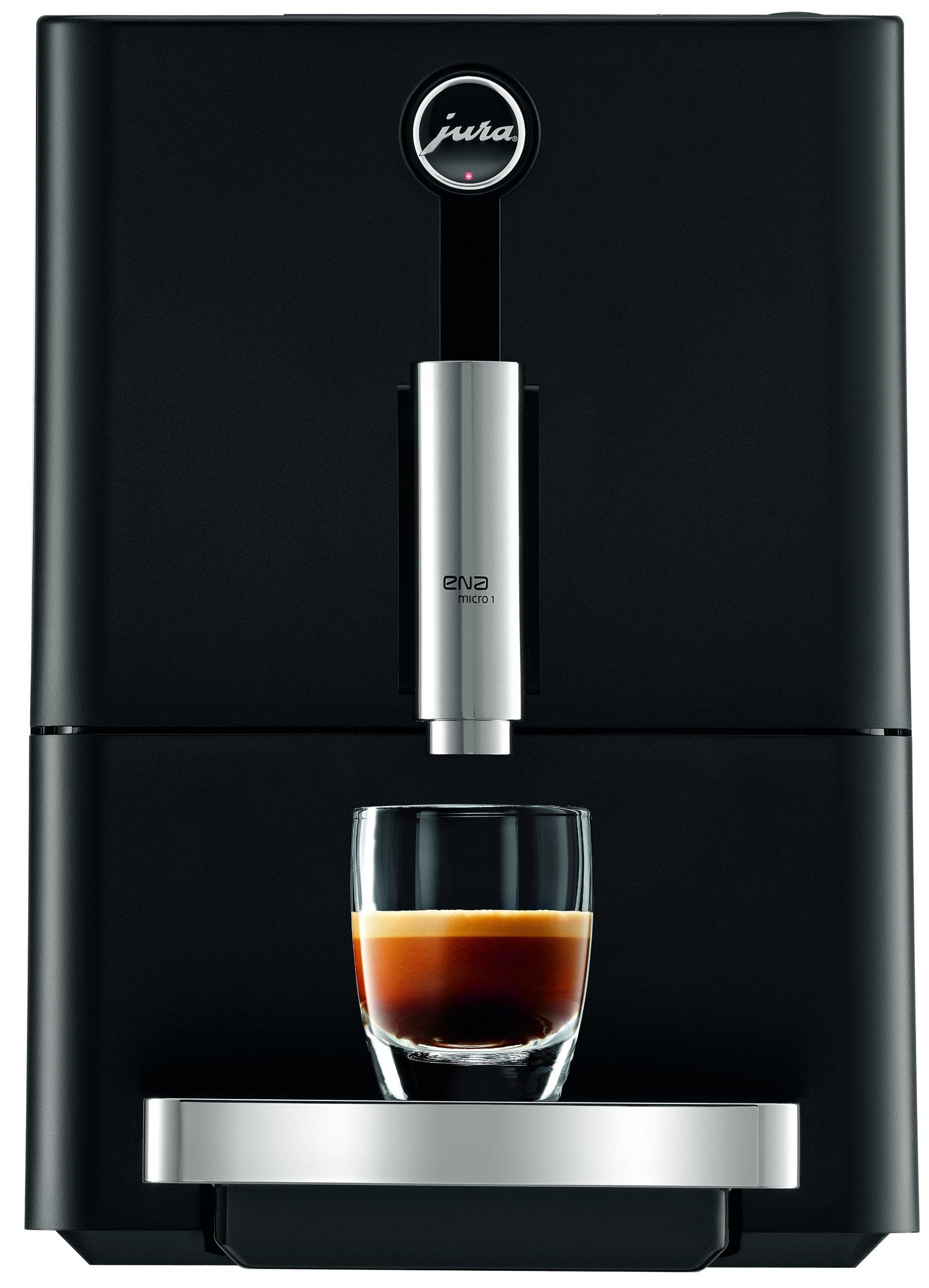 Jura 13626 Ena Micro 1 Automatic Coffee Machine, Micro Black (Renewed)