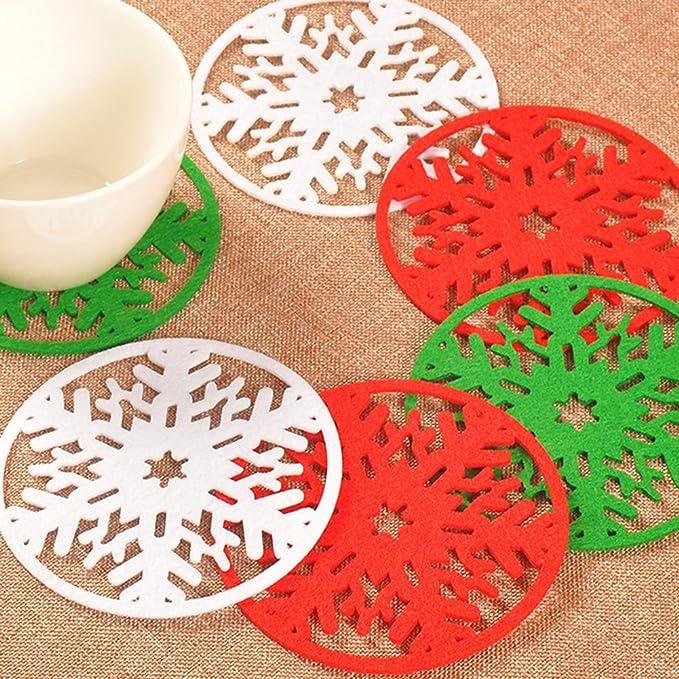 Compra 2 x da. WA silicona Navidad nieve posavasos Copa cojín Holder Beber té taza de café manteles individuales alfombrilla (verde) en Amazon.es