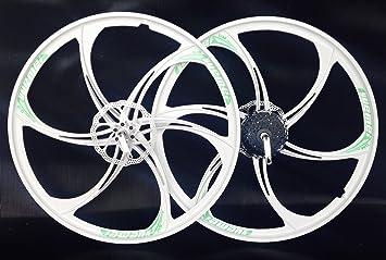 Ruedas de aleación de magnesio delantera y trasera para bicicleta + 8 velocidades 66,04 cm: Amazon.es: Deportes y aire libre