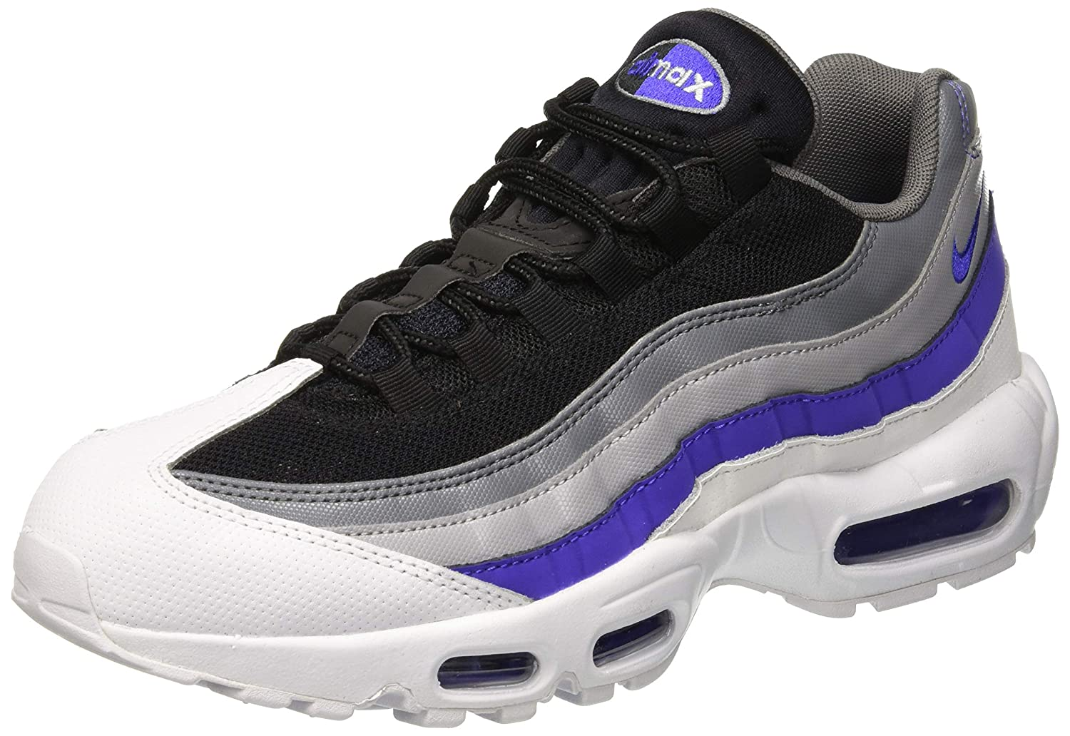best service 4ad88 c0fef Amazon.com   Nike Mens Air Max 95 Essential Leather Trainers   Basketball