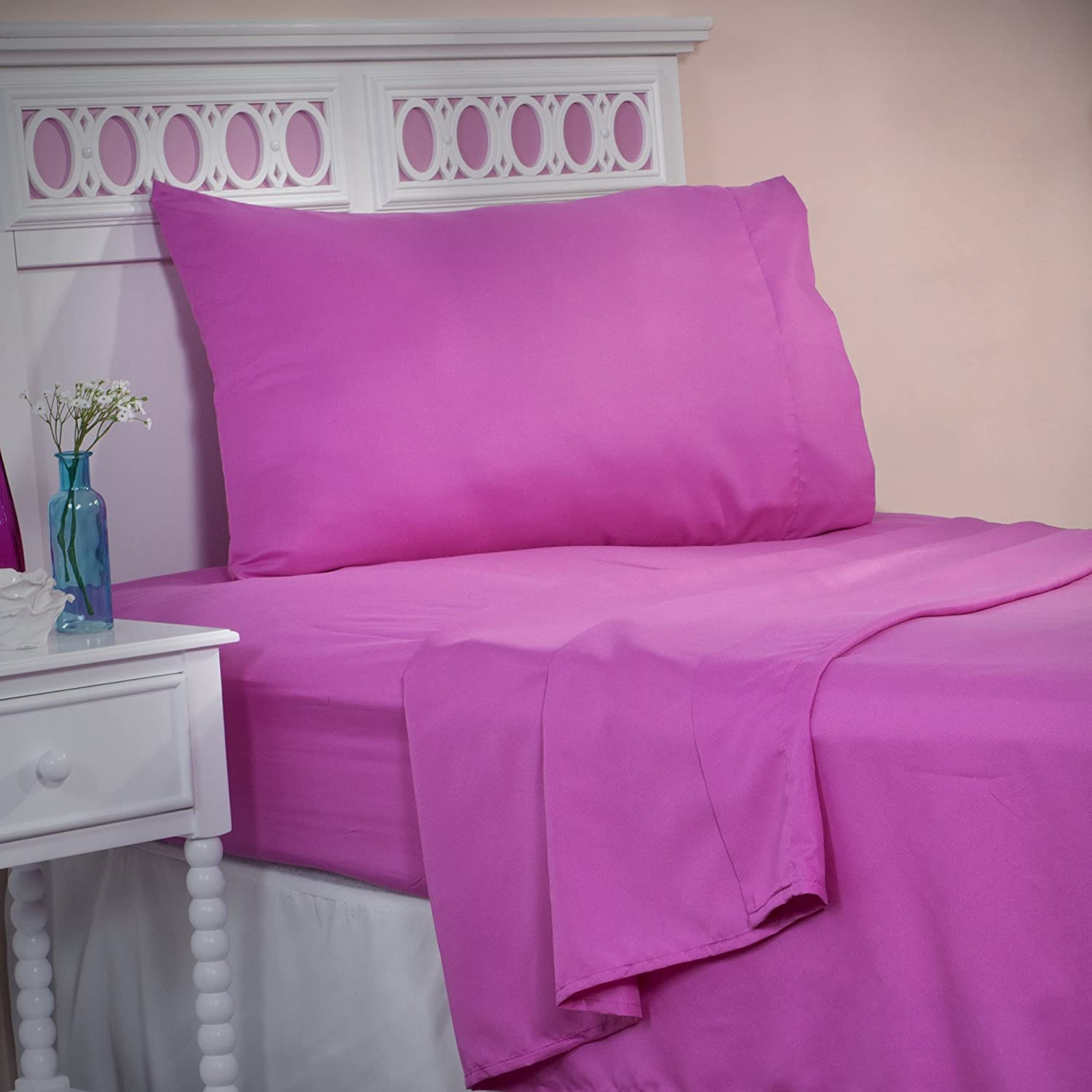 Bedford Home 66A-26072 Series 1200 3-Piece Somerset Homelet Set, Twin, Pink