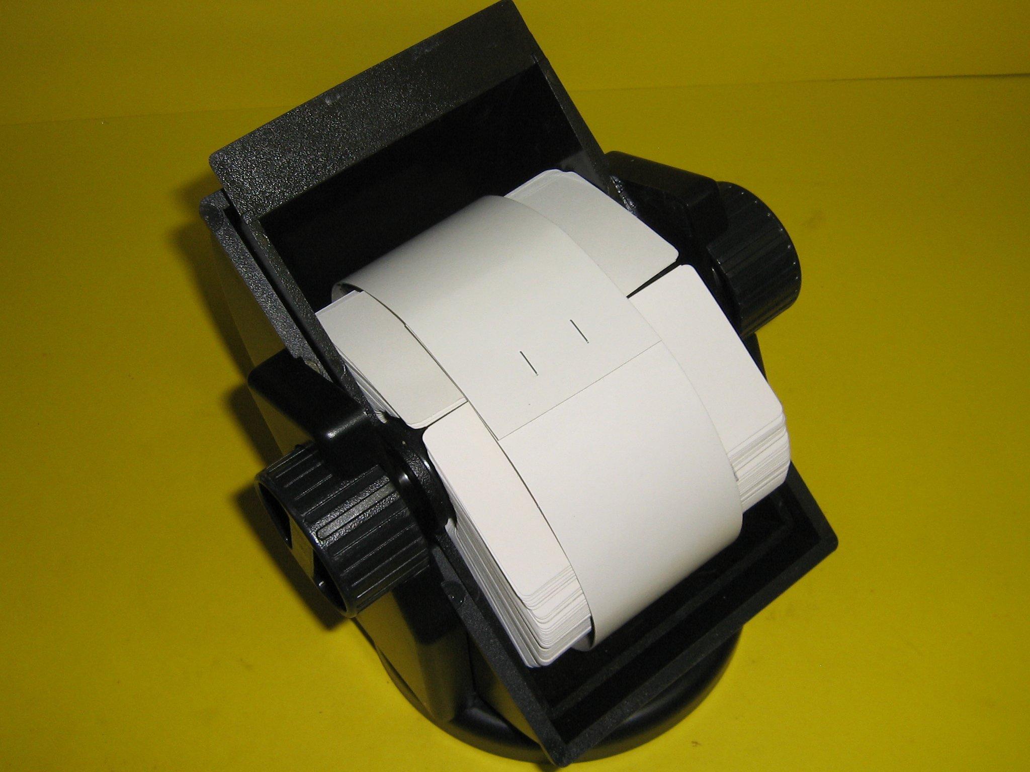 Bates®, Revolver, Covered Rotary, Swivel File, Turns 360 Degrees, 500 Cards, 2 1/4'' x 4'', Black, RSWC24-BK