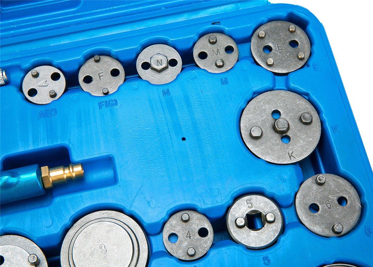 FreeTec Pistón de pinza de freno de disco neumático Juego de reposicionadores de pistones de freno, 16 piezas: Amazon.es: Coche y moto