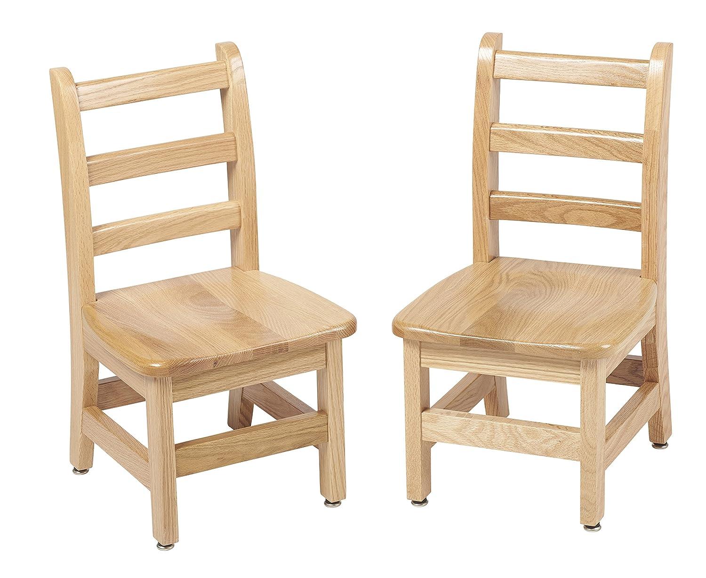 ECR4Kids 12 North American Oak Ladderback Wood Chair 2-Pack