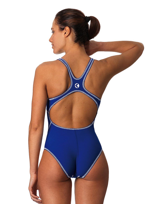 Okeo -STORM- Costume intero donna per piscina; taglio sportivo vestibilità agonista; tessuto PBT Endurtech; tinta unita disponibile in diverse varianti colore