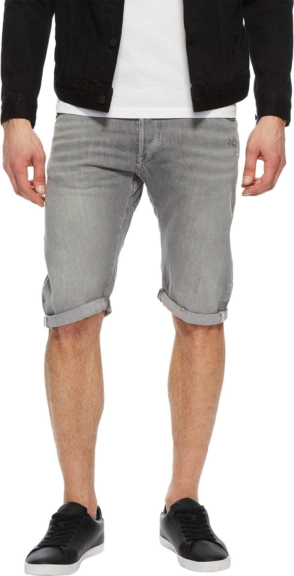 G-Star Men's Arc 3D 1/2 Shorts In RACHA Grey Denim RACHA Grey Denim 36