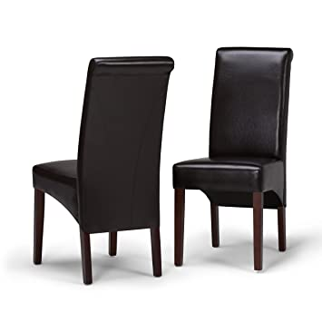 Fine Simpli Home Ws5134 Avalon Contemporary Deluxe Parson Dining Chair Set Of 2 In Tanners Brown Faux Leather Creativecarmelina Interior Chair Design Creativecarmelinacom