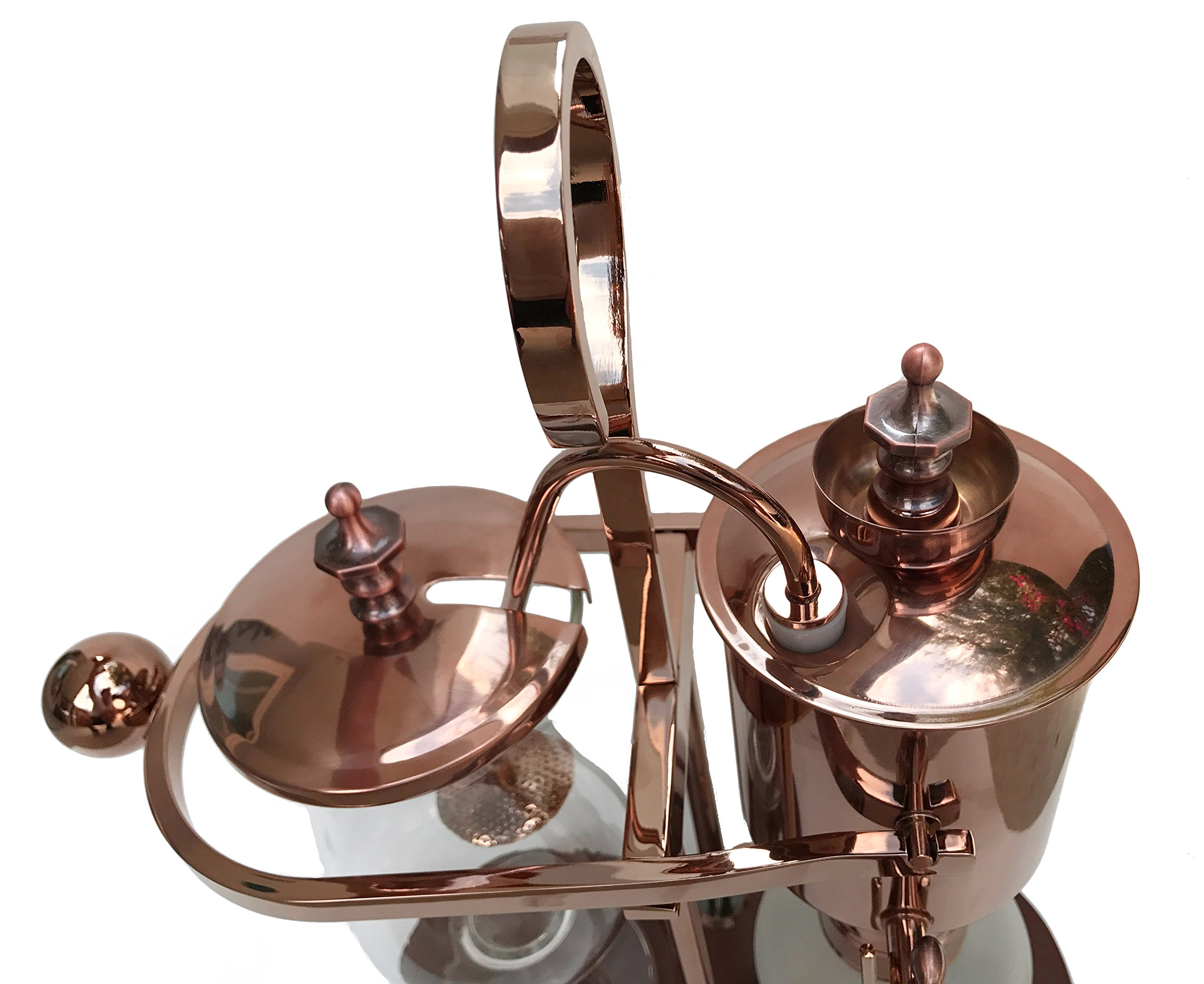 Nispira Belgian Belgium Luxury Royal Family Balance Syphon Siphon Coffee Maker Copper Color, 1 set by Nispira (Image #2)
