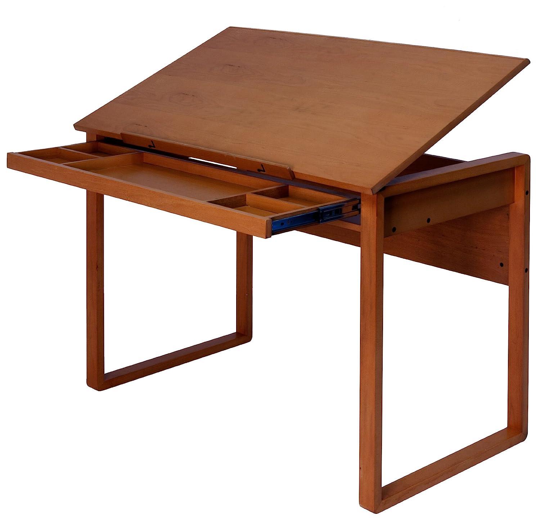 Vintage Drafting Table Adjustable Art Work Drawing Wood ...