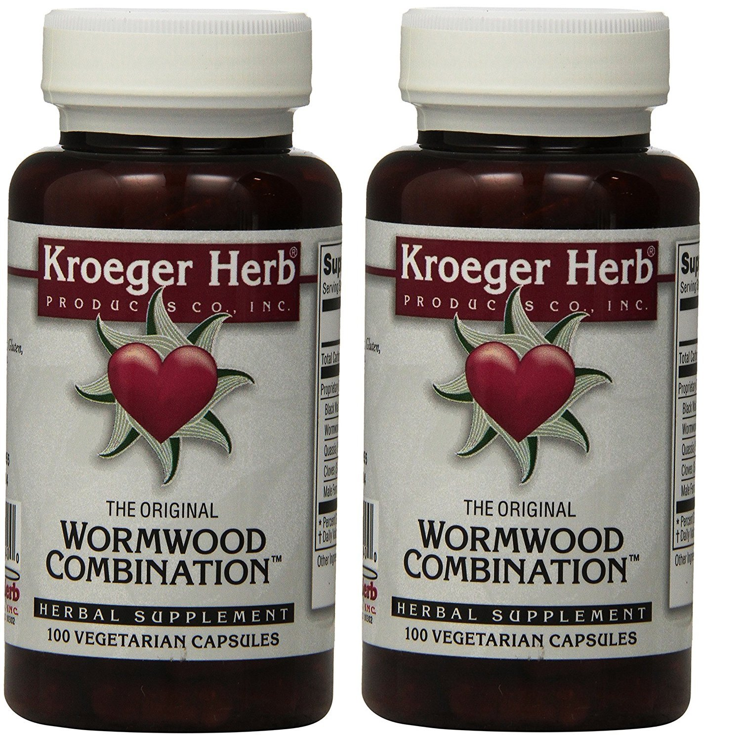 2 Pack -Kroeger Wormwood Combination, 100 V-Cap