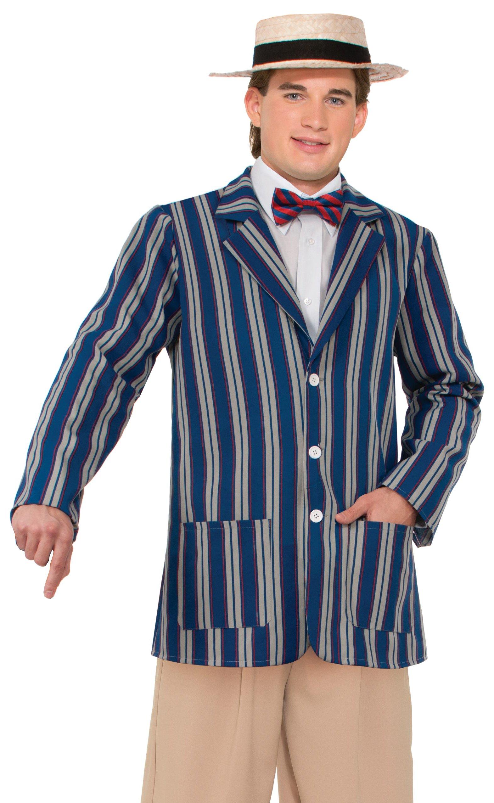Forum Novelties Men's Roaring 20's Halloween Boater Jacket, Multi, X-Large by Forum Novelties