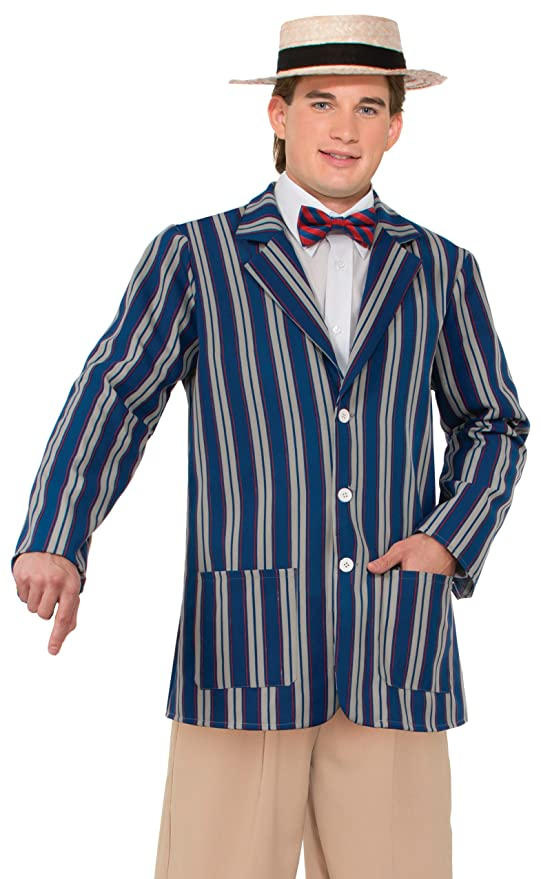 1920s Men's Costumes Mens Roaring 20s Halloween Boater Jacket $18.38 AT vintagedancer.com