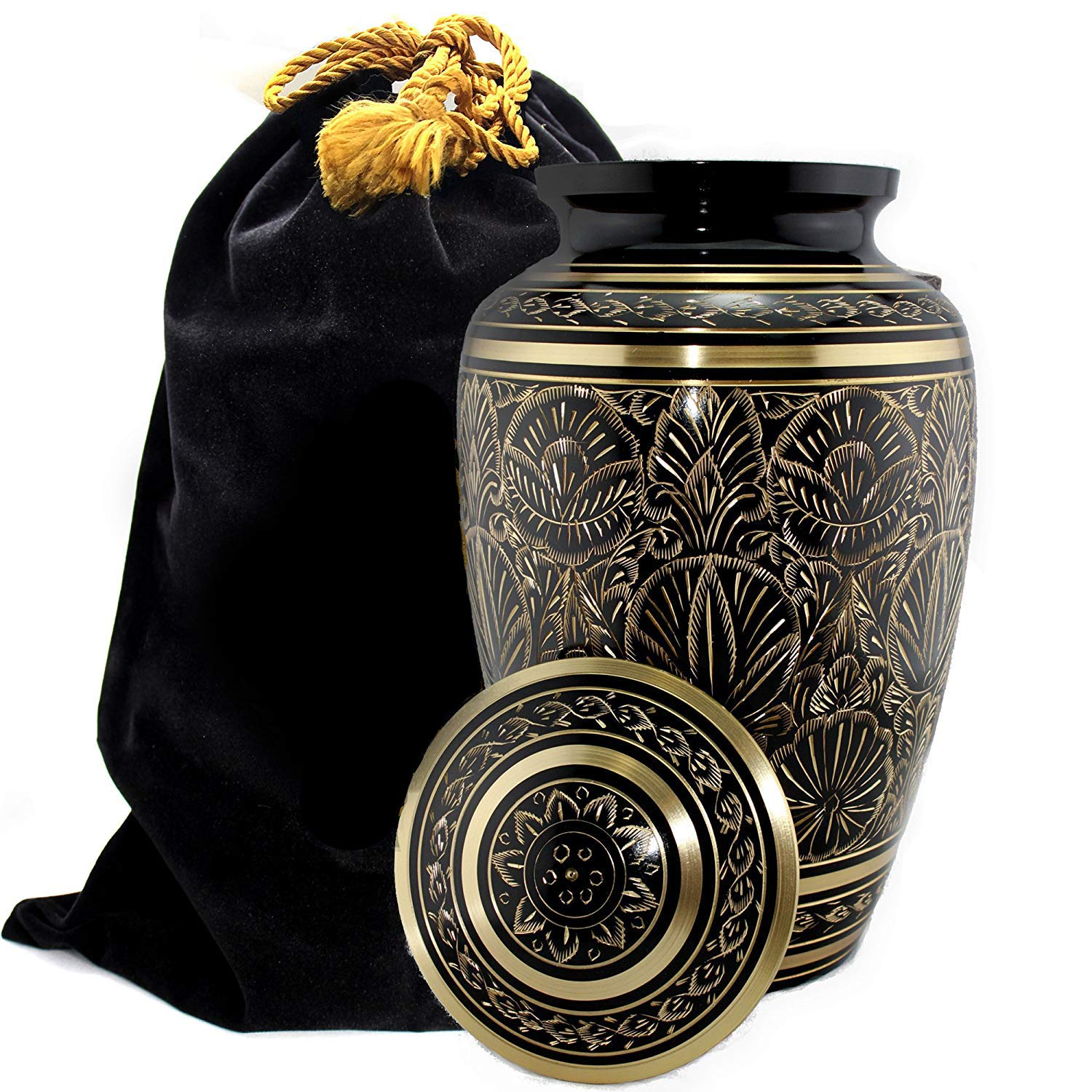 Majestic Radiance 100 Brass Cremation Urn for Human Ashes Large and Small Large