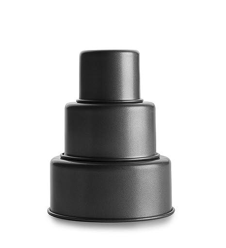 IBILI 827400 Mini Tartas Tres Pisos, Negro, Centimeters