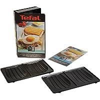 Tefal XA800112 Snack Collection Coffret de Plaque pour Croque Monsieur avec Livre de Recettes 4,4 x 15,5 x 24,2 cm