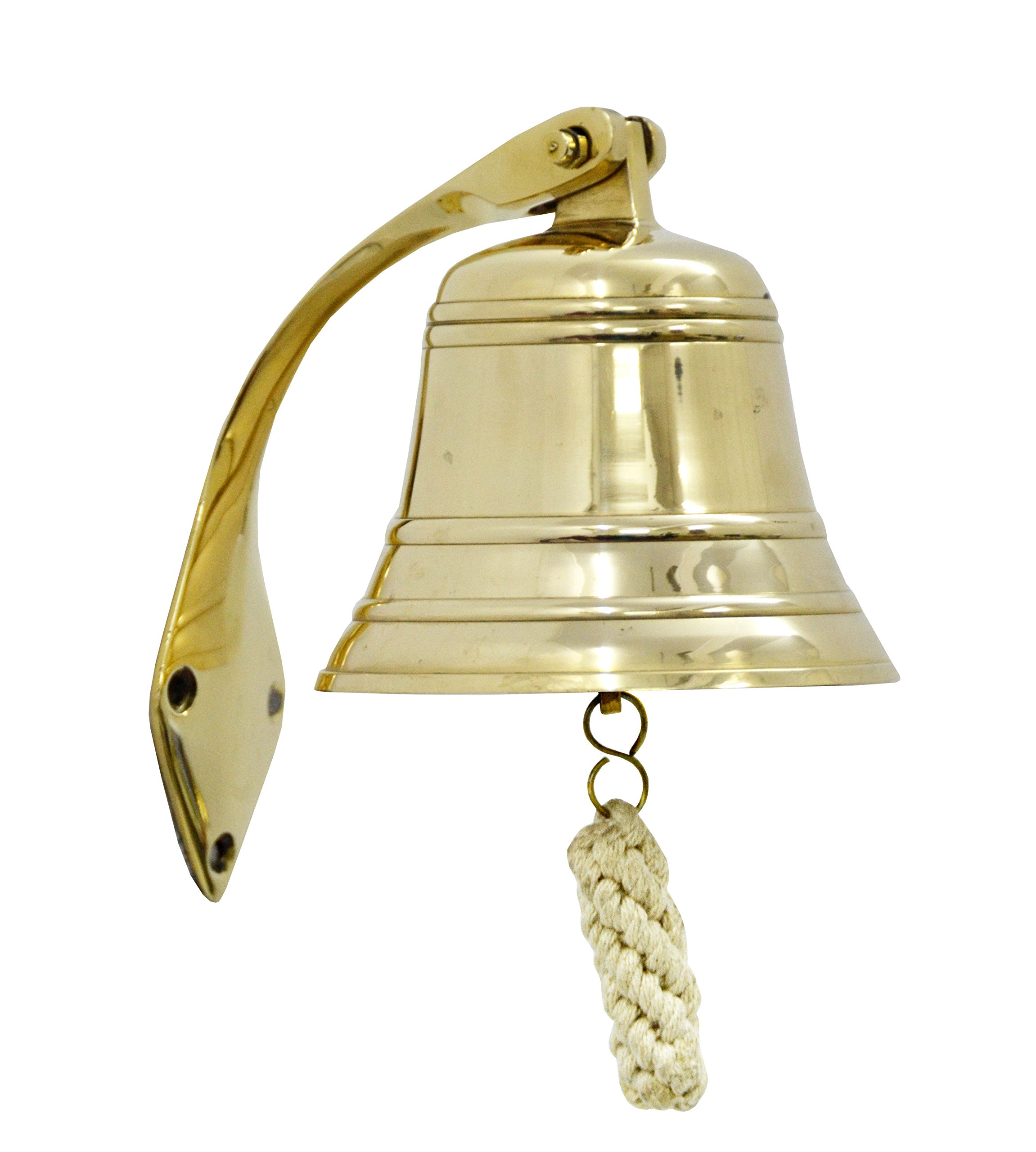 Brass Nautical Solid Brass Ships Bell / Nautical Bell, Polished Lacquered Finish
