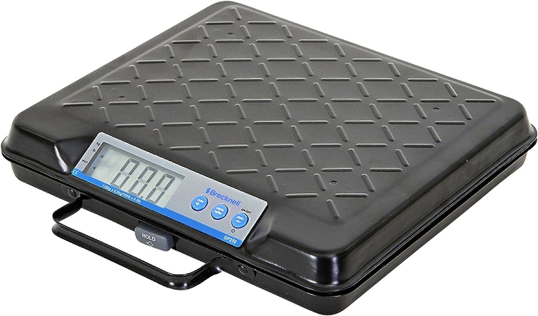 Brecknell GP100 USB Electronic General Purpose Bench Scale, 100LB Capacity, Portable, Internal Backlit Display, USB COM Port