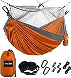 Kootek Camping Hammock with Mosquito Net Double & Single Portable Hammocks Parachute Lightweight Nylon with Tree Straps…