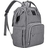 Beyle Multi-Function Waterproof Diaper Backpack for Women Mom (Grey)