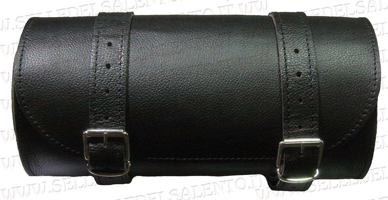 Barilotto borsa moto in pelle barilotto 20x10 bikebag Satteltasche compatibile con harley devindson moto guzzi triumph Selle del Salento