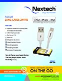 Nextech NC6LW Apple Licensed 8 Pin Lightning Cable Extra Long (2 Meters) Sync & Charge for iPhone 5/5s/6/6+,iPad/iPad Air,iPad Mini