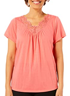 Coral Bay Womens Solid Tank Top At Amazon Women S Clothing Store