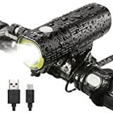 INTEY Lampe Vélo LED Portable Multifonctionnelle Éclairage Phare à Bicyclette Lumière à Vélo USB Rechargeable 1000/1600 Lumens IPX6 Étanche Batterie 4500/5000 mAh
