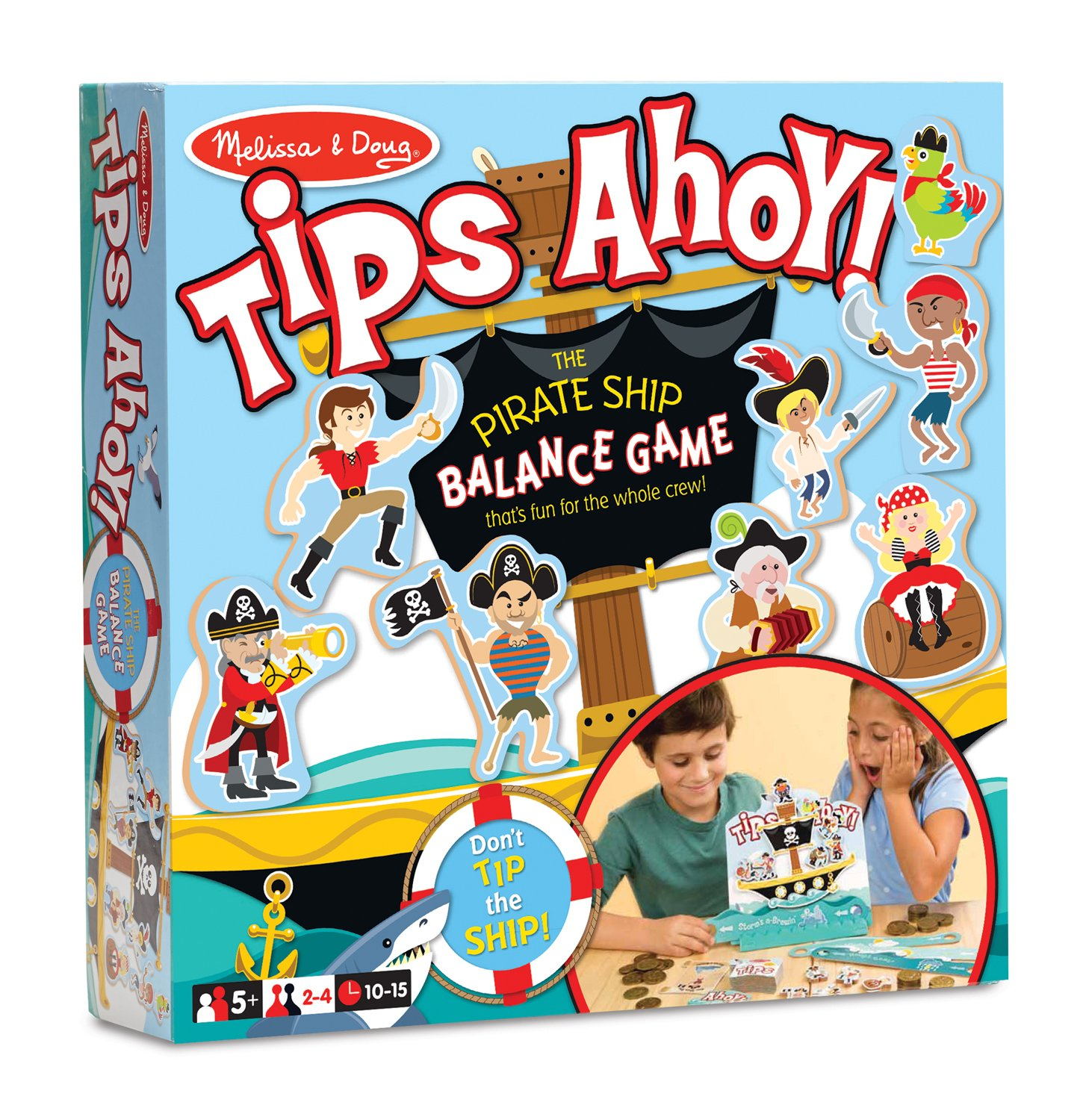 amazon com melissa u0026 doug tips ahoy pirate ship balance game 24