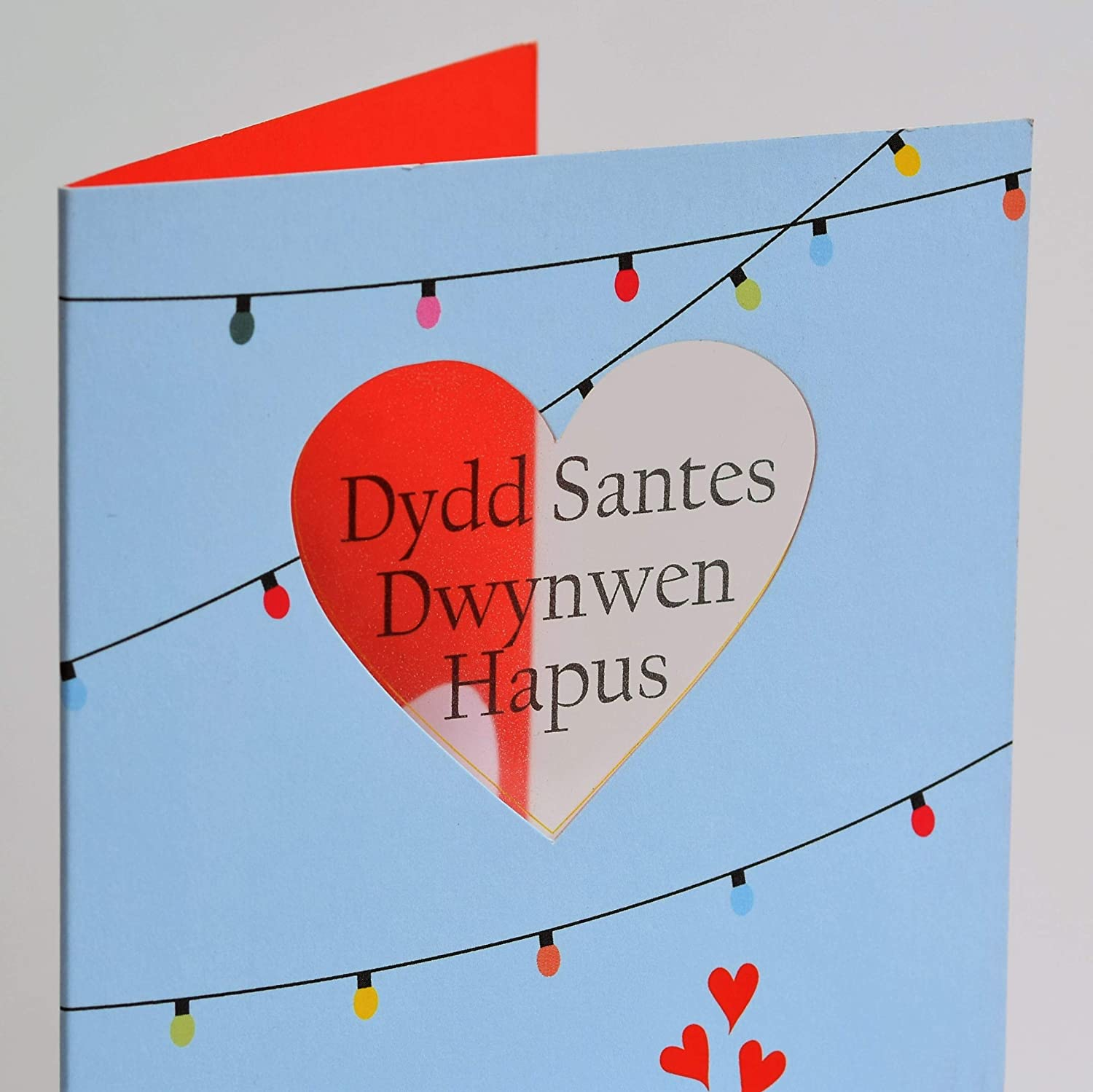 Acetate See Through Window Claire Giles Welsh Language Valentines//St Dwynwen Card Kissing Birds WVPE51 from The Peek-a-Boo Range