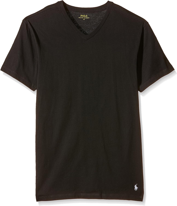 Polo Ralph Lauren de los Hombres Pack de 2 Camisetas V, Negro ...
