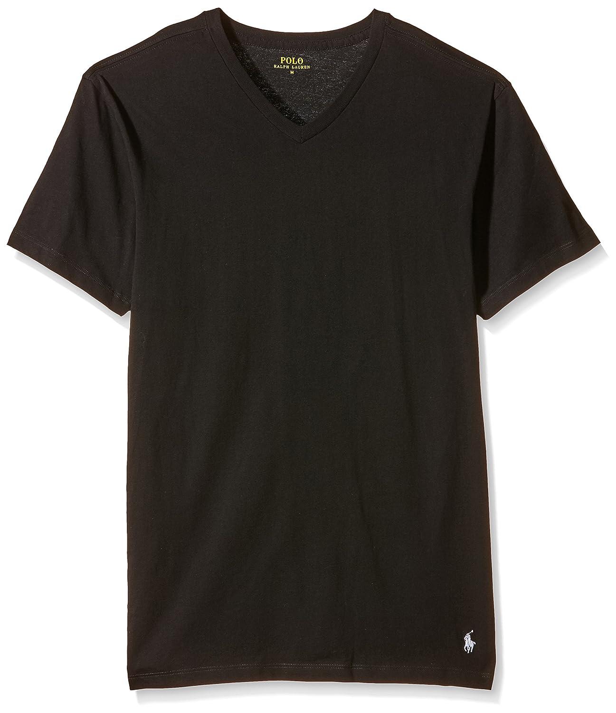 Ralph Lauren - Camiseta para hombre v neck, Negro (2Pk Polo Black ...