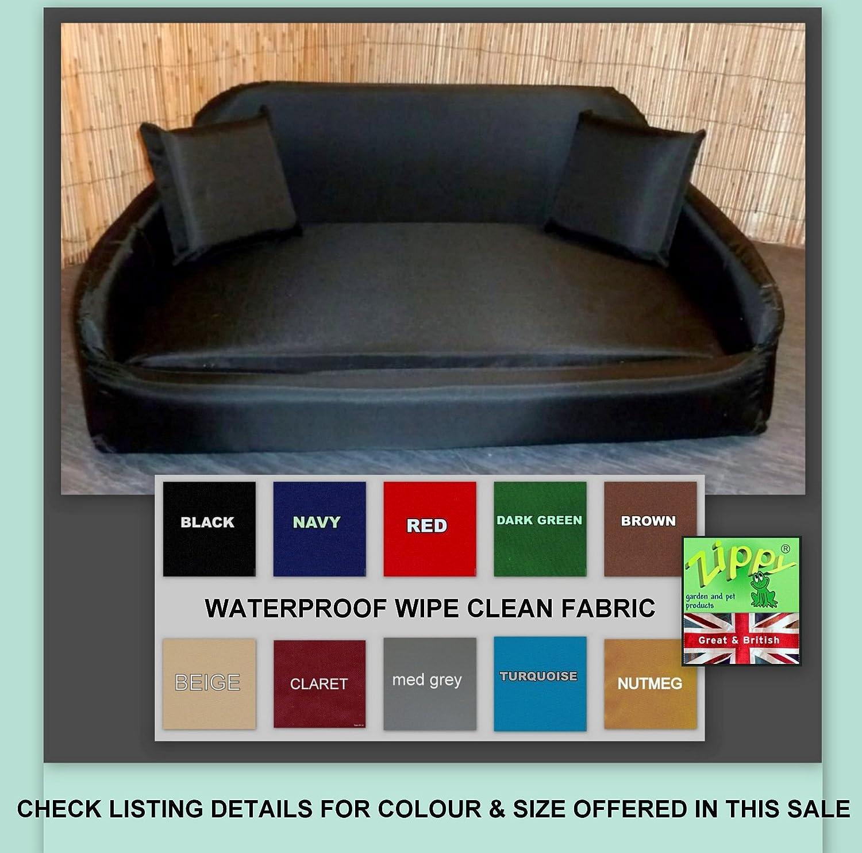 Zippy LARGE BLACK Sofa Dog Bed Waterproof Wipe Clean Fabric