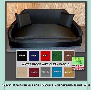 Zippy Extra grande negro cama sofá para perros - Impermeable Tela fácil de limpiar - lavado o Vac - de fácil cuidado cama para mascotas: Amazon.es: ...