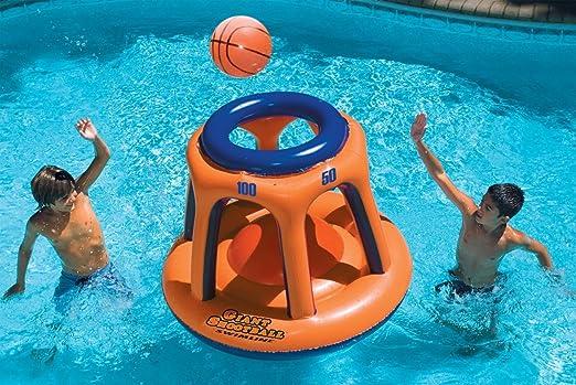 Swimline Giant HbDYNp - Canasta de baloncesto inflable para ...