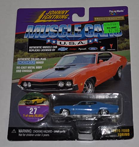 Amazon com: 1970 Ford Torino (Blue) #27 - Muscle Cars 1 0f