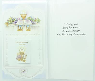 Amazon Ra001 Childrens First Holy Communion Greeting Card