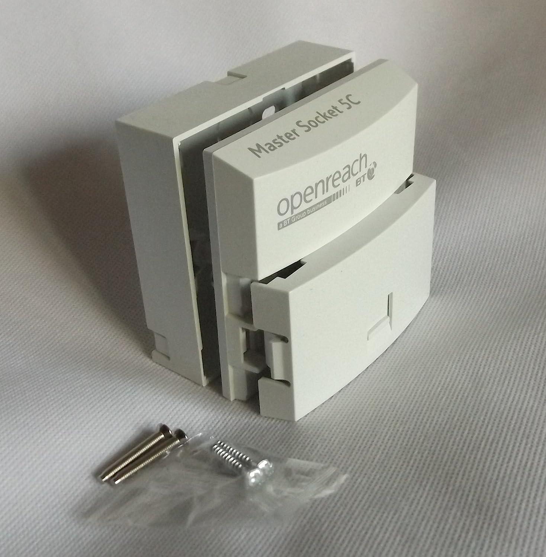 Nte5c Mk2 Replaces Nte5a Master Socket Pressac Latest Bt Wiring Openreach Box Version Bell Wire Filter Clear Cam Lock Idc Backbox 2 M35 Machine Screws