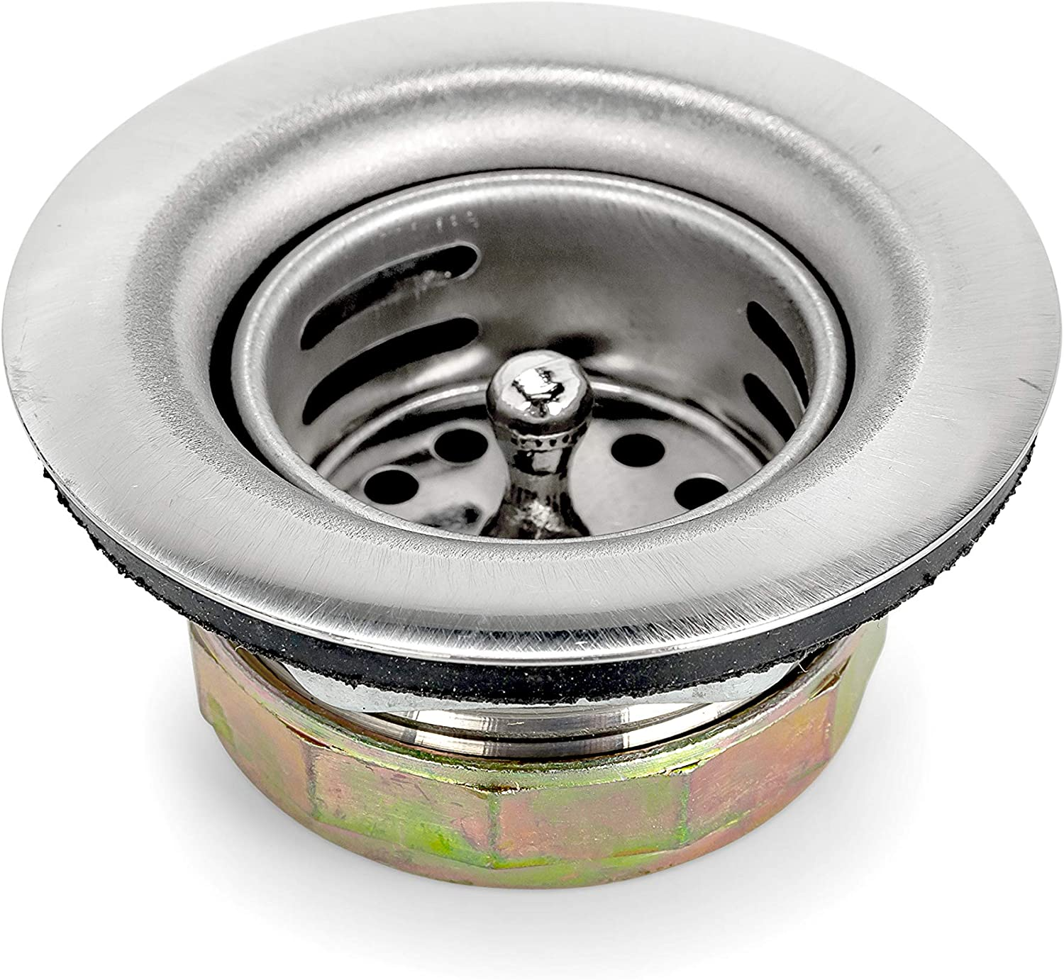 """Camco Replacement RV Kitchen Sink Drain and Strainer Basket - Prevents Clogs in Your RV's Kitchen or bar Sink - Compatible with 2-1/2"""" Drain Openings (42277)"""