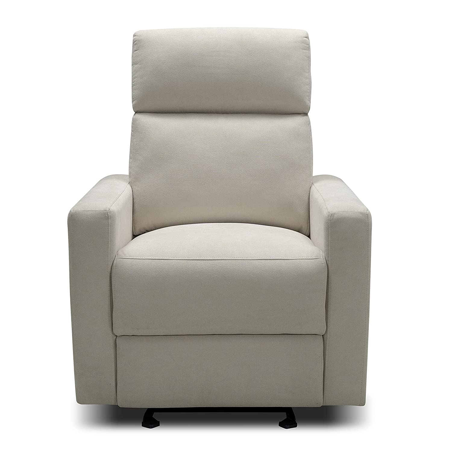 The Glider by Nurture& | Premium Power Recliner Nursery Glider Chair with Adjustable Head Support | Designed with a Thoughtful Combination of Function and Comfort | Built-in USB Charger (Ivory)